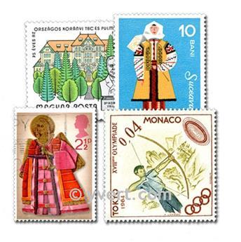 EUROPE: envelope of 5000 stamps