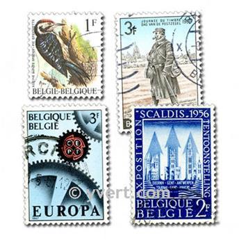BÉLGICA: lote de 1000 sellos