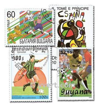 FÚTBOL: lote de 100 sellos