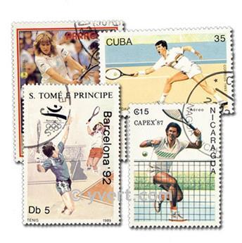 TENNIS : pochette de 25 timbres