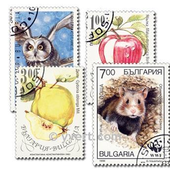 BULGARIE : pochette de 1000 timbres