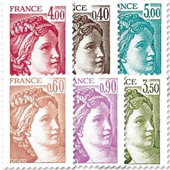 n.o 2118 / 2123 -  Sello Francia Correos