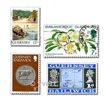 GUERNSEY: envelope of 100 stamps