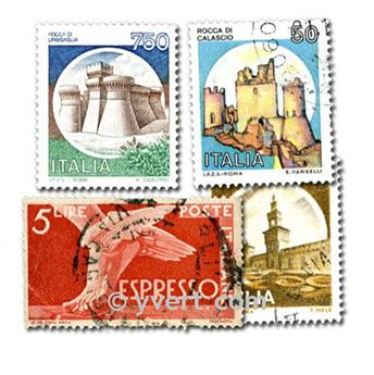 ITALY: envelope of 200 stamps