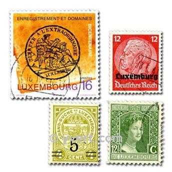 LUXEMBURGO: lote de 200 sellos