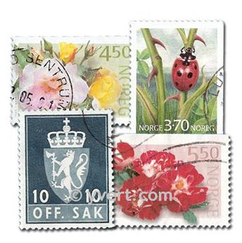 NORUEGA: lote de 100 sellos
