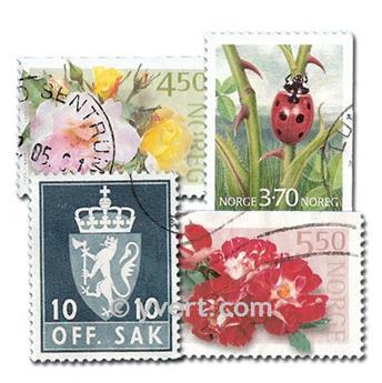 NORWAY: envelope of 100 stamps