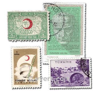TURQUÍA: lote de 1000 sellos