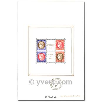nr. 3b -  Stamp France Souvenir sheets