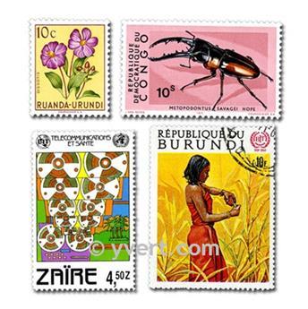 POSESIONES BELGAS: lote de 200 sellos