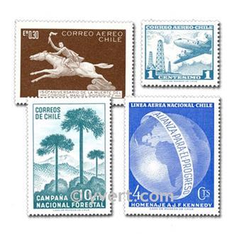 CHILE: lote de 100 selos