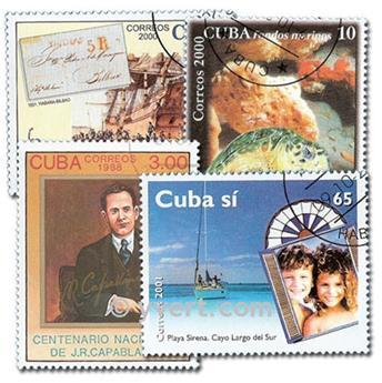 CUBA : pochette de 500 timbres