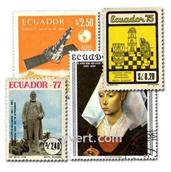 ECUADOR: envelope of 100 stamps