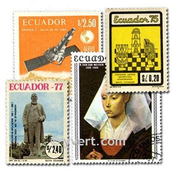 EQUADOR: lote de 100 selos