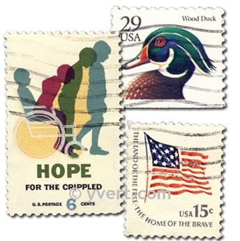ETATS-UNIS : pochette de 200 timbres