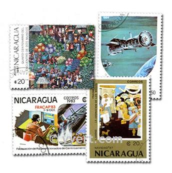 NICARAGUA : pochette de 100 timbres