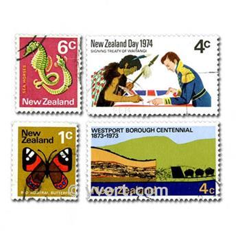 NOUVELLE ZELANDE : pochette de 100 timbres