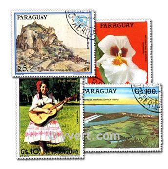 PARAGUAY: lote de 100 sellos
