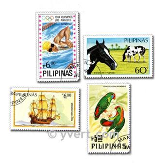 PHILIPPINES: envelope of 100 stamps