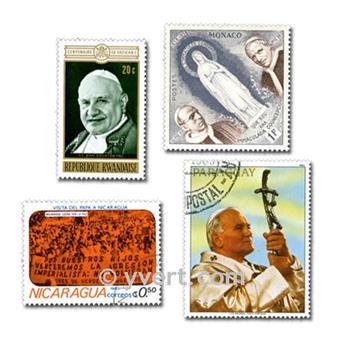 PAPES : pochette de 25 timbres