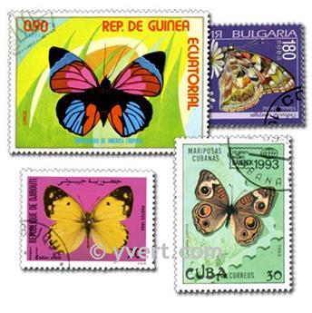 PAPILLONS : pochette de 200 timbres