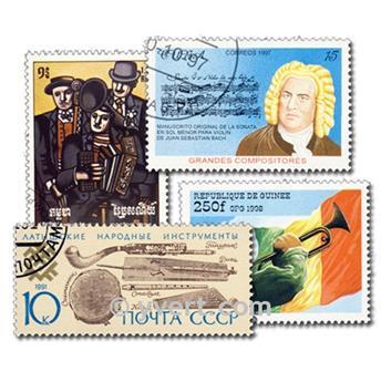 MÚSICA Y MÚSICOS: lote de 500 sellos
