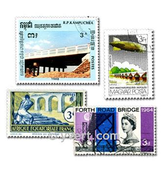 BRIDGES: envelope of 50 stamps
