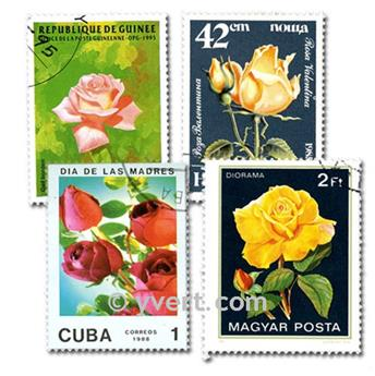 ROSES: envelope of 50 stamps