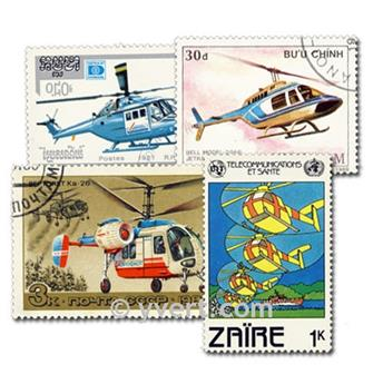 HELICOPTERS: envelope of 50 stamps