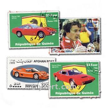 VOITURES FERRARI : pochette de 10 timbres