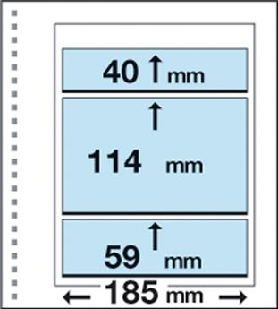 Recharges CK18 : 1 poche centrale (114x185mm) et 2 bandes (40/59 x185mm)