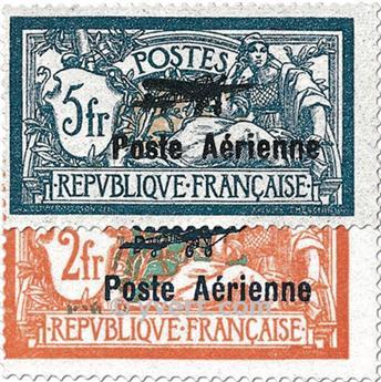 n° 1/2 -  Timbre France Poste aérienne