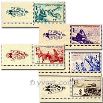 nr. 6a/10a -  Stamp France LVF
