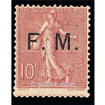 n° 4 -  Selo França Franquia postal