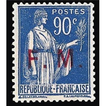 n° 9 -  Selo França Franquia postal