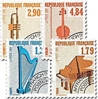 n° 202/205 -  Selo França Pré-obliterados