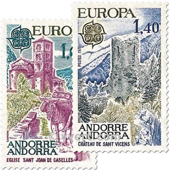 n° 261/262 -  Selo Andorra Correios