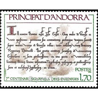 n° 273 -  Selo Andorra Correios