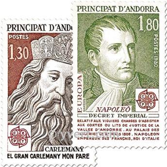 n° 284/285 -  Selo Andorra Correios