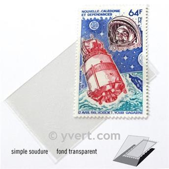 Pochettes simple soudure - Lxh:32x53mm (Fond transparent)