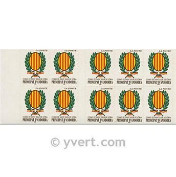 n° 11 -  Selo Andorra Carnets