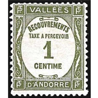 n° 16 -  Selo Andorra Taxa