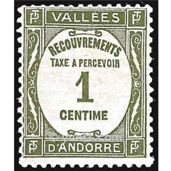 n° 16 -  Timbre Andorre Taxe