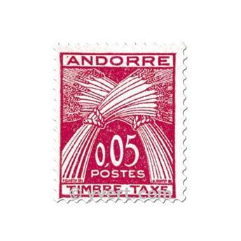 n° 42/45 -  Selo Andorra Taxa