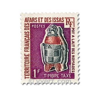 n° 1/4  -  Selo Afars e Issas Taxa