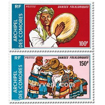 n° 104A/104B -  Selo Comores Correios