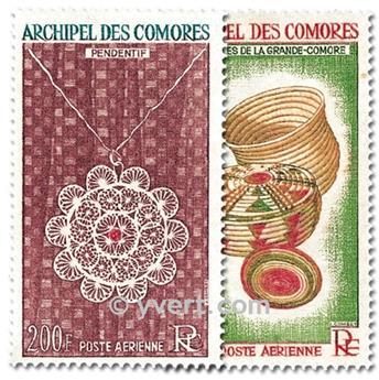 n° 8/9 -  Timbre Comores Poste aérienne