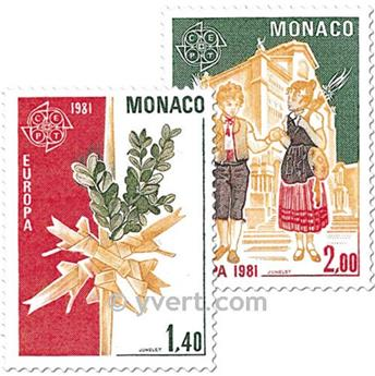n° 1273/1274 -  Selo Mónaco Correios