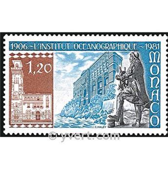 n° 1278 -  Selo Mónaco Correios
