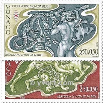 n.o 1288/1289 -  Sello Mónaco Correos